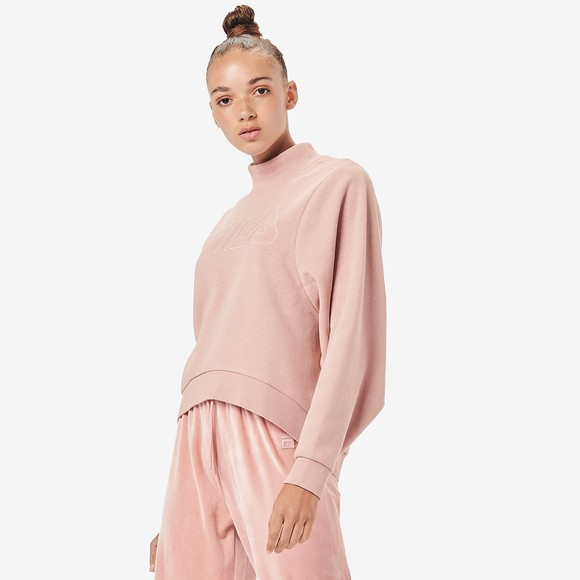 Fila Womens Pink Hanami High Neck Sweatshirt
