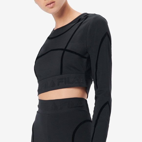 Fila Womens Black Kalyani Long Sleeve Top
