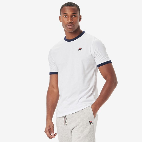 Fila Mens White Marconi Crew T-Shirt