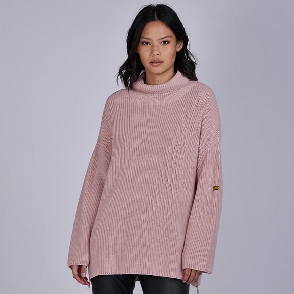 Barbour International Womens Pink Kendrew Knit Jumper