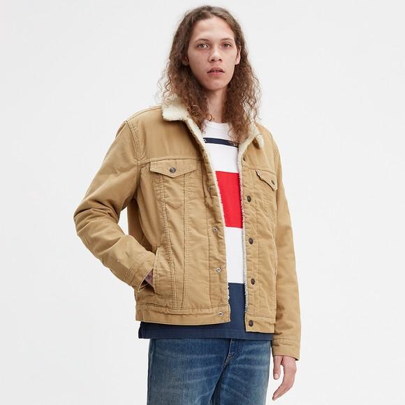 Levi's ® Mens Beige Sherpa 3 Cord Trucker Jacket