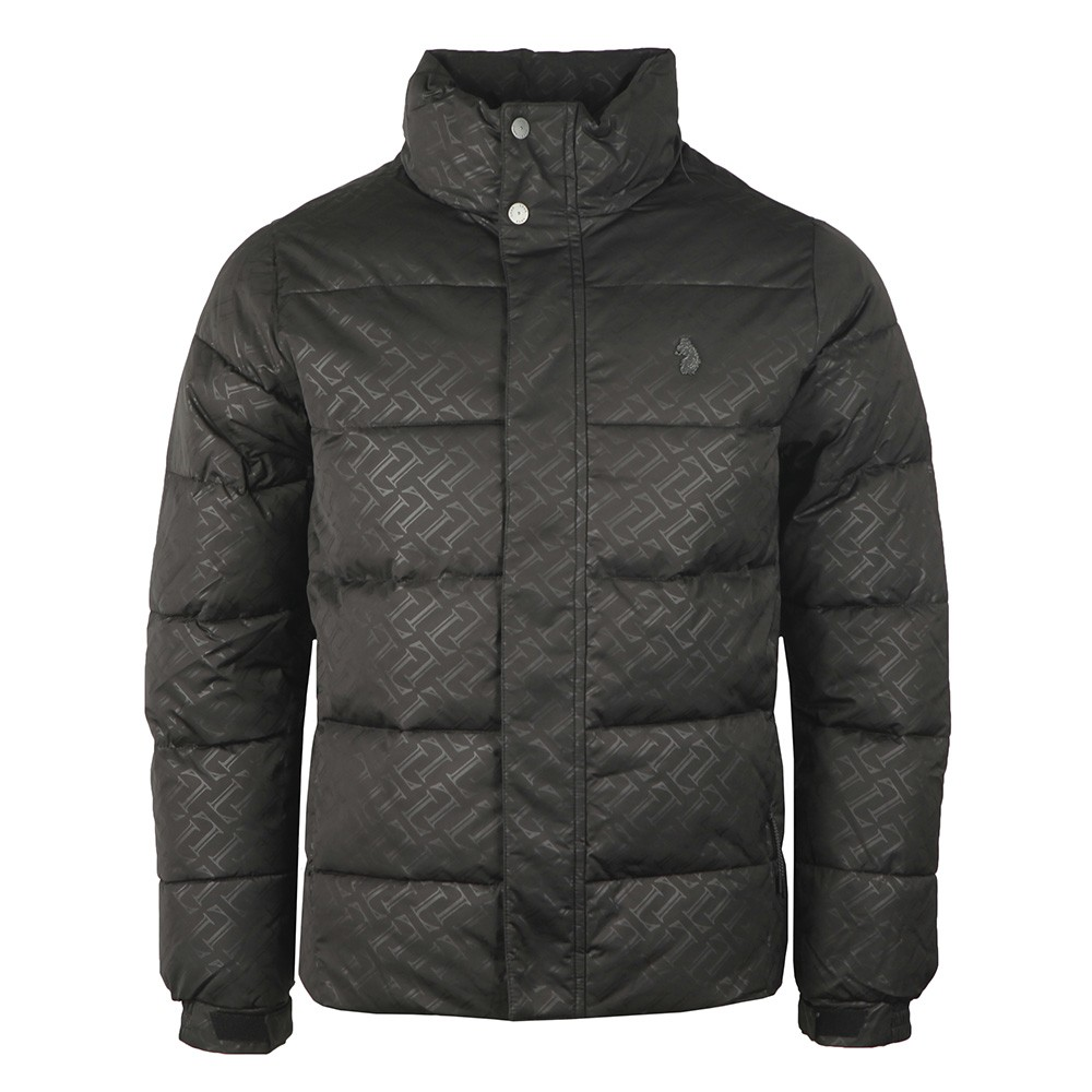 Day Owl Jacquard Overprint Detail Quilted Funnel Jacket