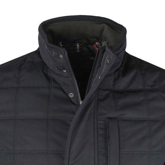 Ted Baker Mens Blue Trent Quilted Jacket