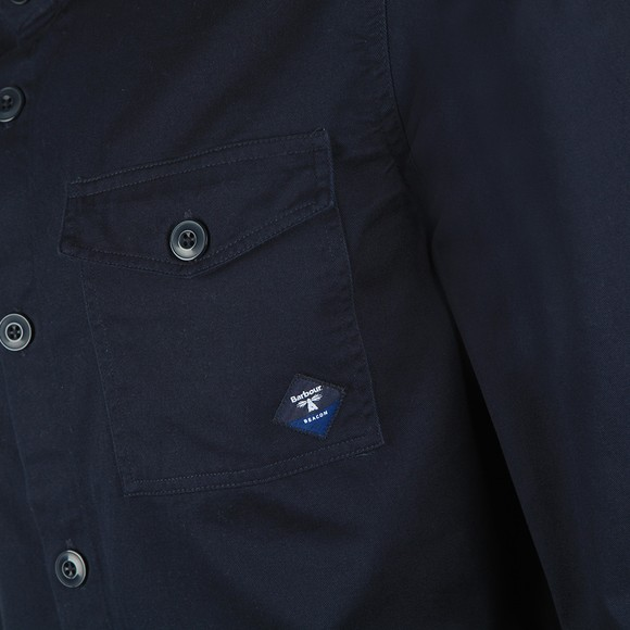 Barbour Beacon Mens Blue Twill Overshirt main image