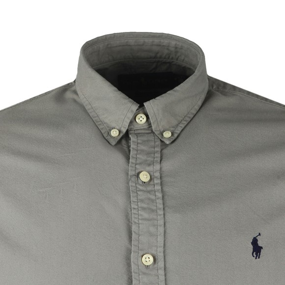Polo Ralph Lauren Mens Grey Slim Fit Button Down Oxford Shirt