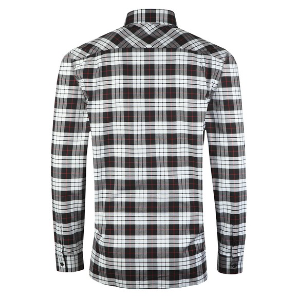 Fred Perry Mens White Tartan Oxford Shirt main image