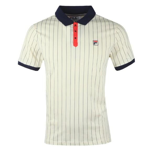 Fila Mens White BB1 Striped Polo Shirt