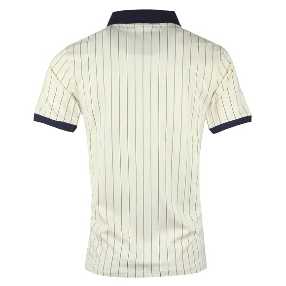 Fila Mens White BB1 Striped Polo Shirt main image