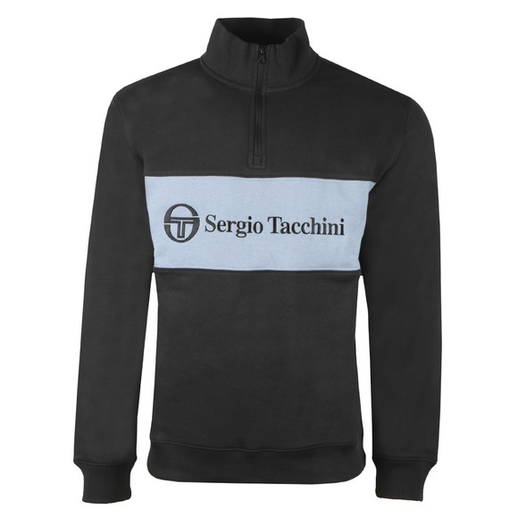 Sergio Tacchini Mens Black Temple 1/4 Zip Sweatshirt