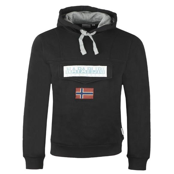 Napapijri Mens Black Burgee Hooded Sweatshirt