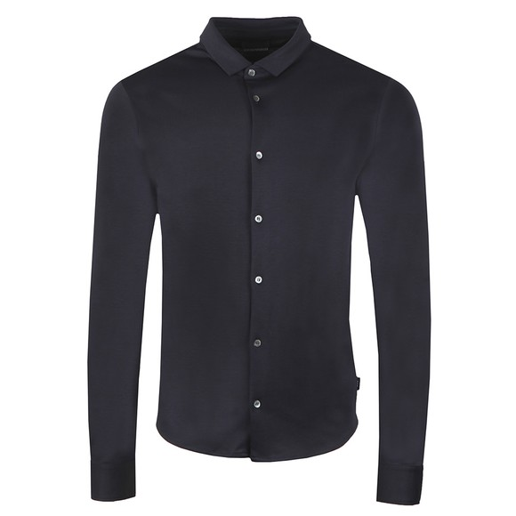Emporio Armani Mens Blue Long Sleeve Jersey Shirt