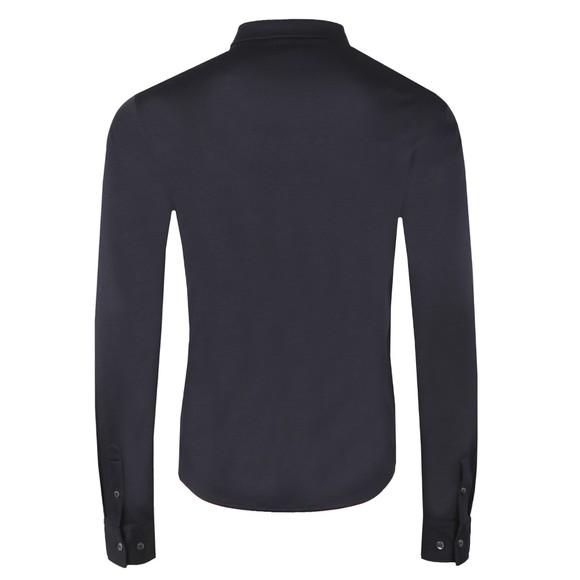 Emporio Armani Mens Blue Long Sleeve Jersey Shirt main image