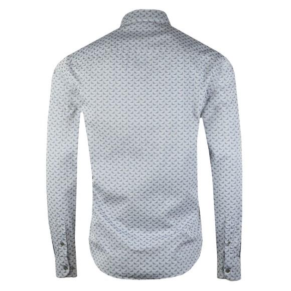 Emporio Armani Mens Grey Small Logo Long Sleeve Shirt main image