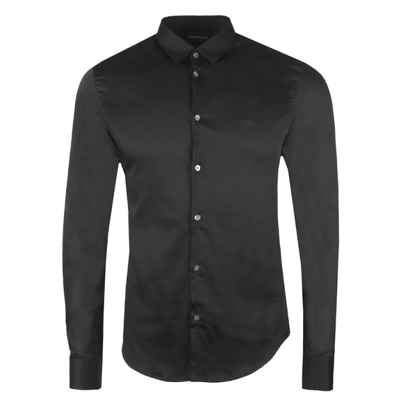 Emporio Armani Mens Black Stretch Shirt