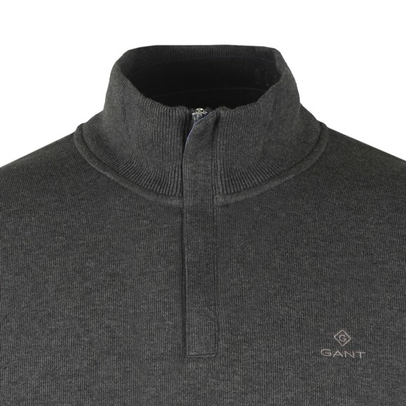Gant Mens Grey Sacker Rib Half Zip