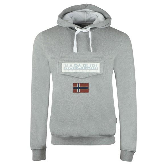 Napapijri Mens Grey Burgee Hooded Sweatshirt