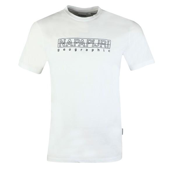 Napapijri Mens White Seble T-Shirt