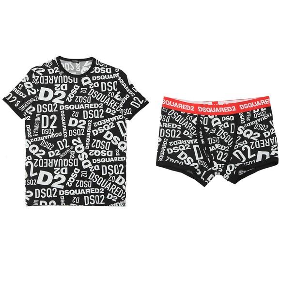 Dsquared2 Mens Black T-Shirt & Boxer Set