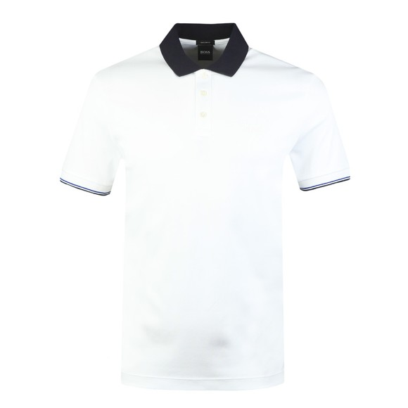 BOSS Mens White Formal Parlay 95 Polo Shirt