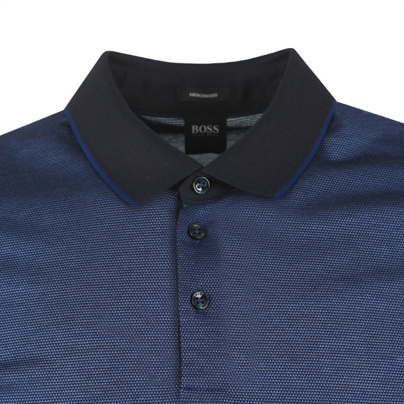 BOSS Mens Blue Formal Prout 25 Polo Shirt