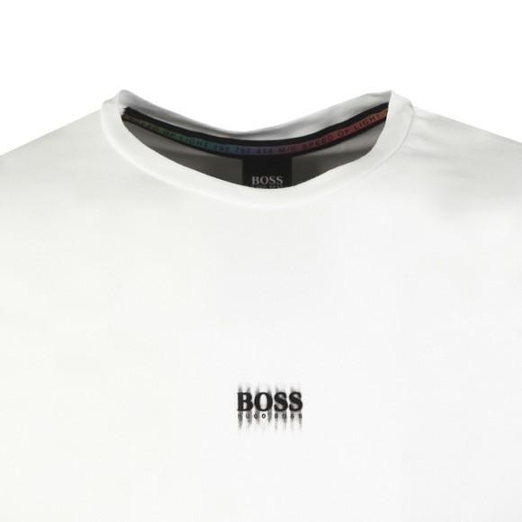 BOSS Mens White Casual Tblurry T-Shirt