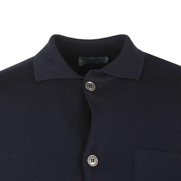 John Smedley Mens Blue Copper Knitted Jacket
