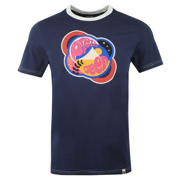 Pretty Green Mens Blue Logo T-Shirt