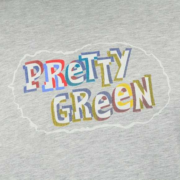 Pretty Green Mens Grey Print T-Shirt
