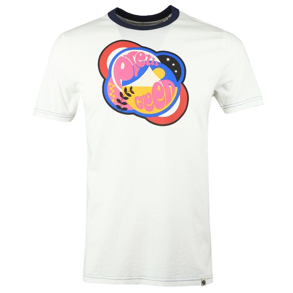 Pretty Green Mens White Logo T-Shirt