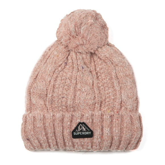 Superdry Womens Pink Gracie Cable Beanie