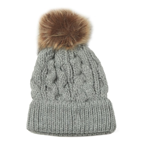 Barbour Lifestyle Womens Grey Penshaw Cable Beanie main image