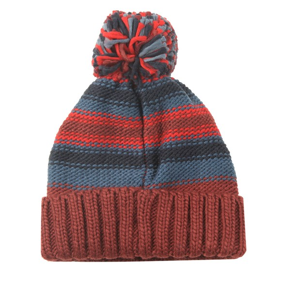 Barbour Lifestyle Mens Red Harrow Stripe Beanie main image