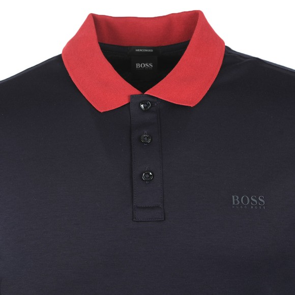 BOSS Mens Blue Formal Parlay 95 Polo Shirt