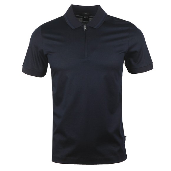 BOSS Mens Blue Formal Polston 18 Polo Shirt