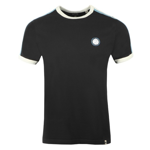 Pretty Green Mens Black Contrast Panel T-Shirt