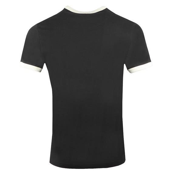 Pretty Green Mens Black Contrast Panel T-Shirt main image