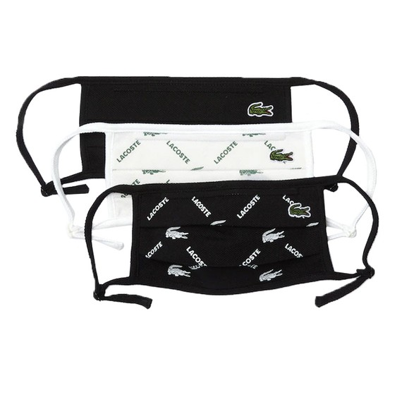 Lacoste Mens Black Face Covering Three Pack main image