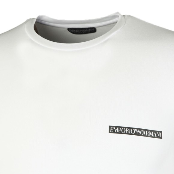 Emporio Armani Mens White Small Chest Box Logo T-Shirt main image
