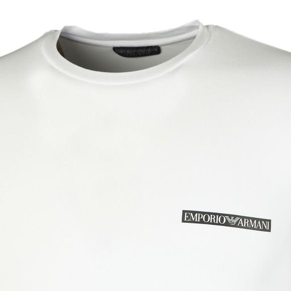 Emporio Armani Mens White Small Chest Box Logo T-Shirt
