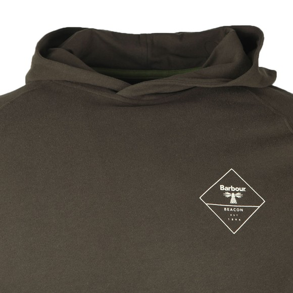 Barbour Beacon Mens Green Netherly Hoodie main image