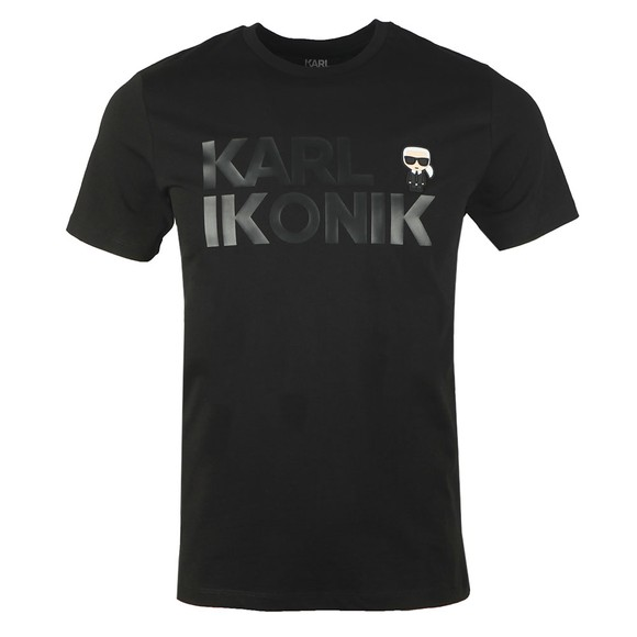 Karl Lagerfeld Mens Black Karl Ikonic T-Shirt