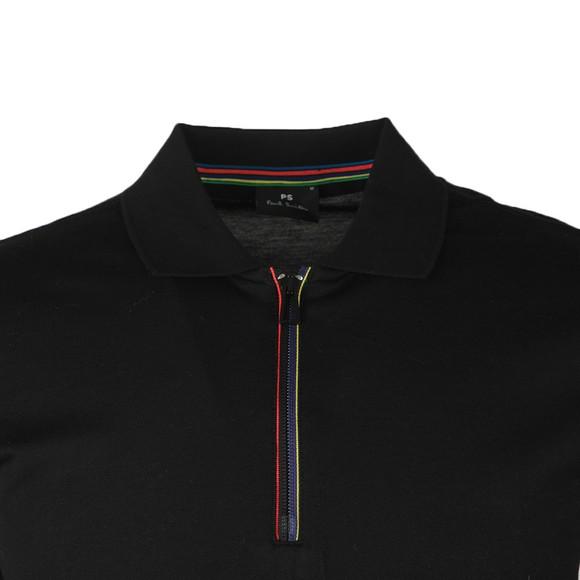 PS Paul Smith Mens Black 1/2 Zip Polo Shirt