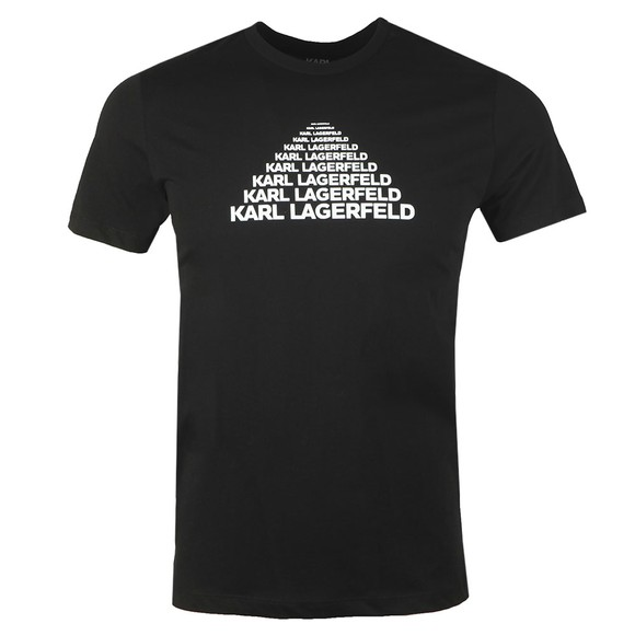 Karl Lagerfeld Mens Black Repeated Pyramid T Shirt