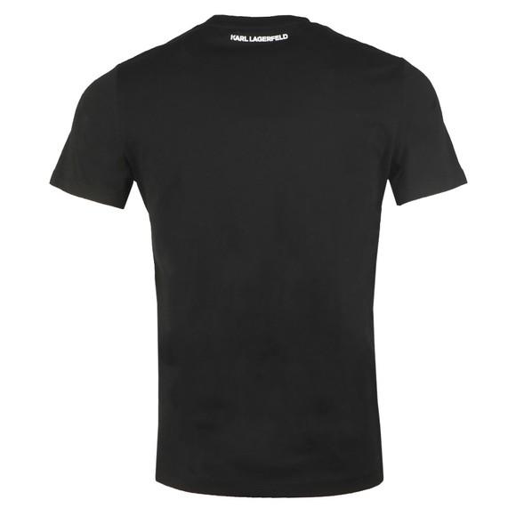 Karl Lagerfeld Mens Black Repeated Pyramid T Shirt main image