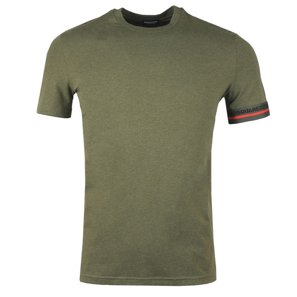 Dsquared2 Mens Green Tape Cuff T-Shirt
