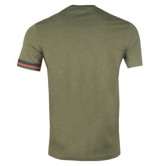 Dsquared2 Mens Green Tape Cuff T-Shirt main image
