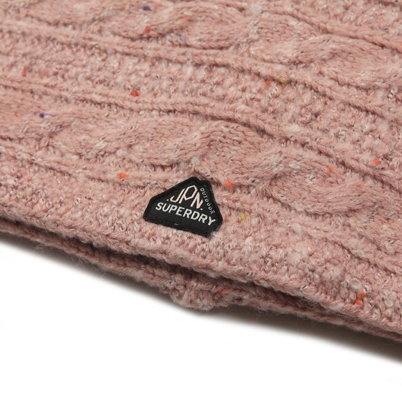 Superdry Womens Pink Gracie Cable Snood