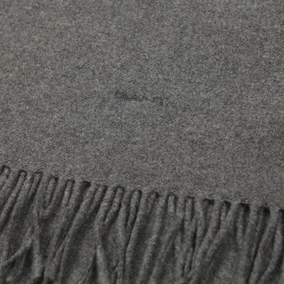 Gant Mens Grey Wool Scarf