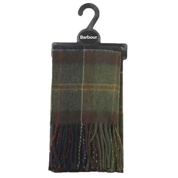 Barbour Lifestyle Womens Green Tartan Scarf