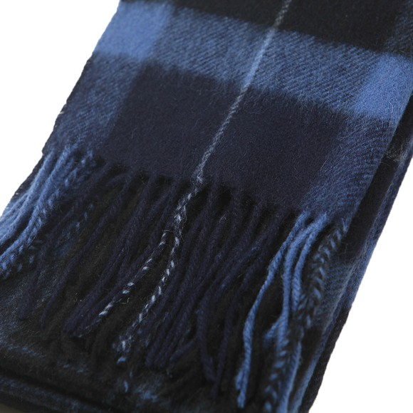 Barbour Lifestyle Mens Blue Holden Tartan Scarf